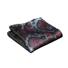 Blue and Pink Paisley Pocket Square