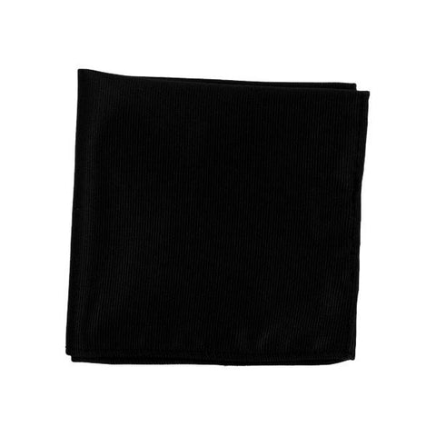 Black Ribbed Pocket Square