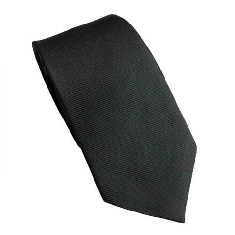 Black Silk Ribbed Wedding Tie