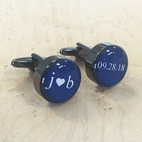 Personalised Keepsake Date Cufflinks