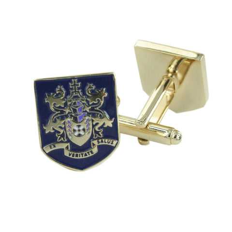 Custom Made Family Shield Cuffs in enamel