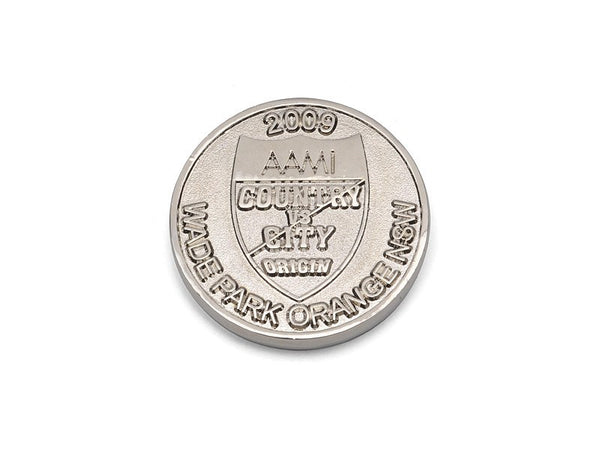Custom Made Double Sided Coins - Silver