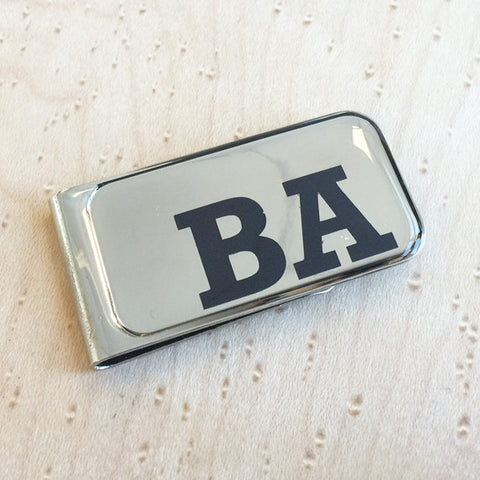 Personalised Printed Cut Out Initial Money Clip