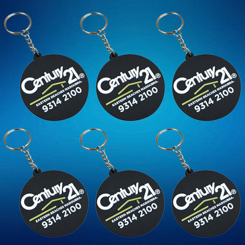 150 Custom Made PVC Keyrings