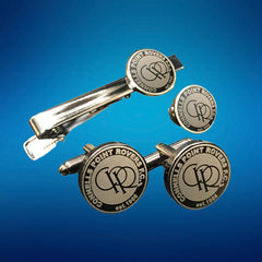 10 Custom Made Cufflinks, Tiebar, Lapel Pin Set