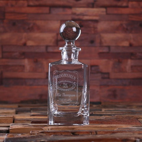 Personalised Whiskey Decanter with Global Bottle Lid
