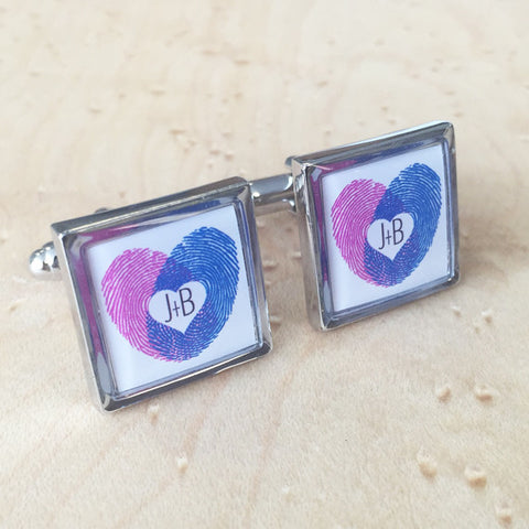 Personalised Finger Prints Cufflink