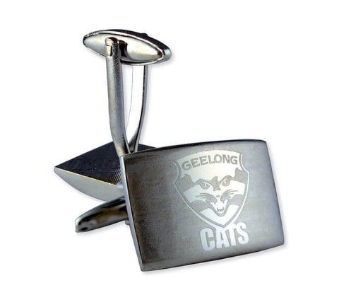 AFL Geelong Cats Brushed Steel Cufflinks