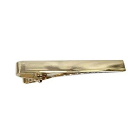 Gold Long Plain Tiebar