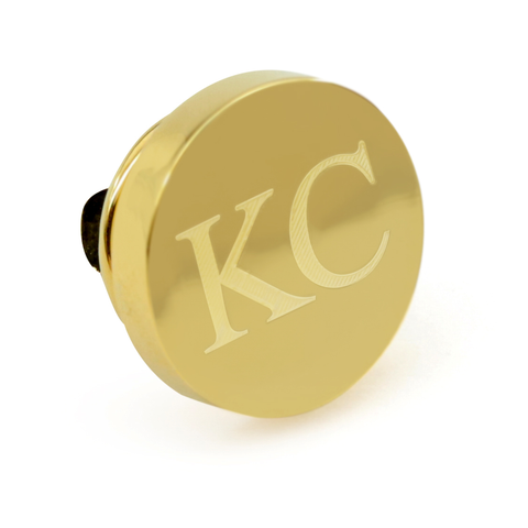 Personalised Engraved Round Gold lapel Pins