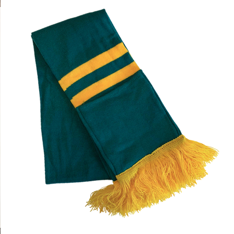 Supporter Scarf - Green Yellow Striped