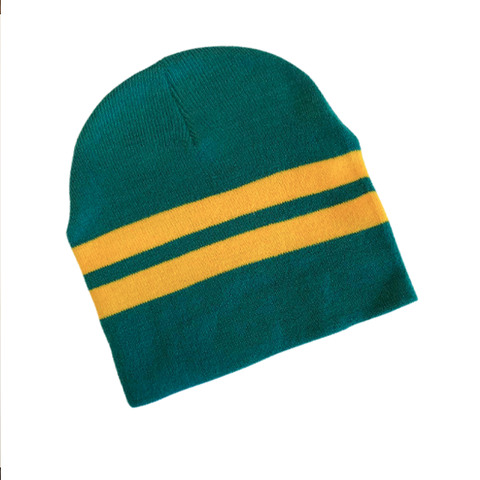 Supporter Beanies - Green Yellow Striped