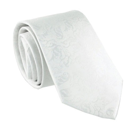 Heavenly White Patterned Tie