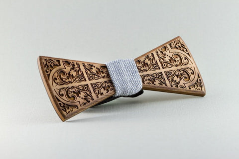 Picasso Wood Bow Tie