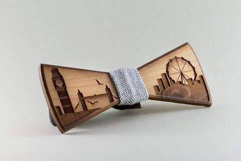London Wood Bow Tie