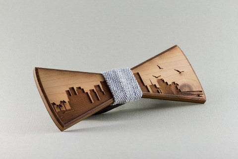 Miami Wood Bow Tie