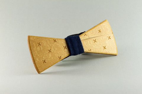 Crosses Wood Bow Tie
