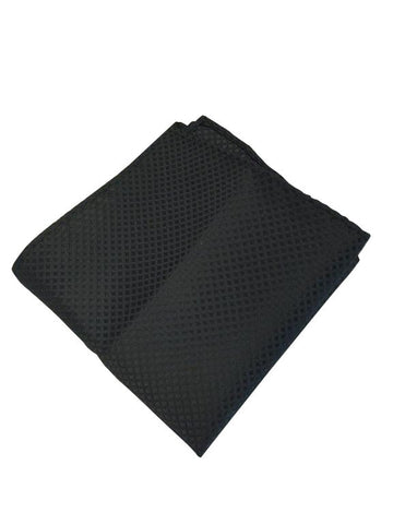 Black Grid Patterned Pocket Square