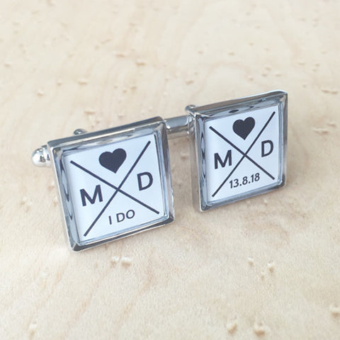 Personalised Wedding Keepsake Cufflinks