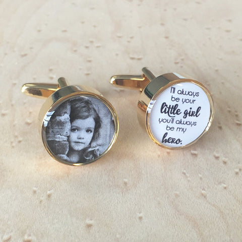 Personalised Daddy's Little Girl Cufflinks