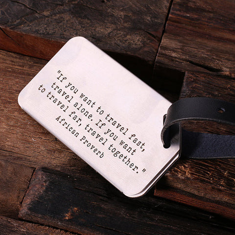Personalised Luggage Tag with Leather Band