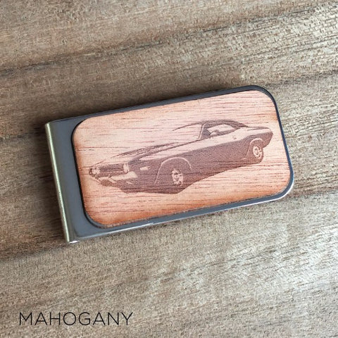 Personalised Laser Engraved Image Wood Money Clip