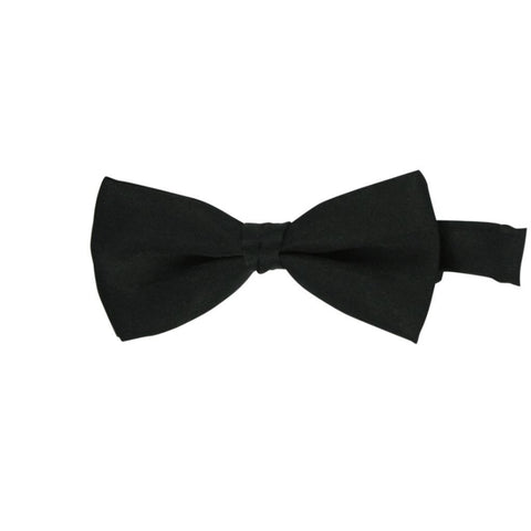 Black Polyester Bow Tie