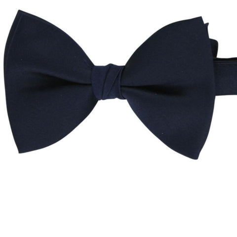 Navy Polyester Bow Tie