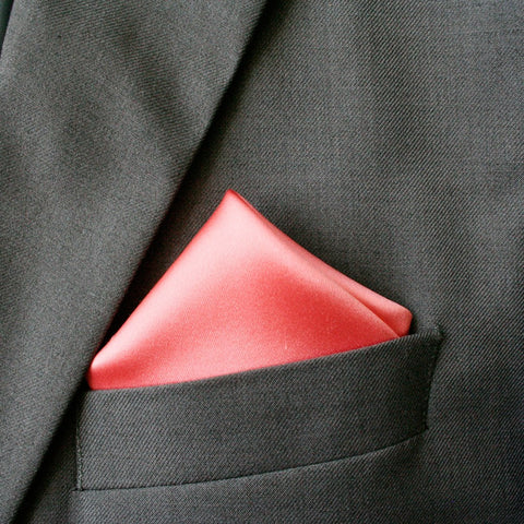 Coral Series Silk Pocket Square