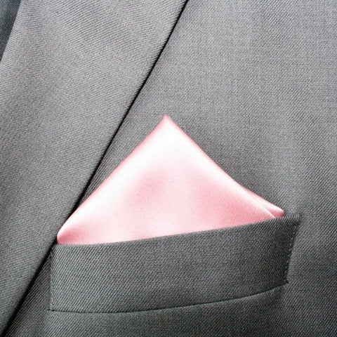 CHAMPAGNE PINK SILK POCKET SQUARE