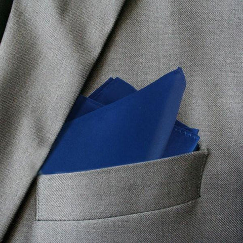 Romantic Royal Blue Silk Pocket Square