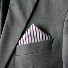 Grape Striped Pocket Square