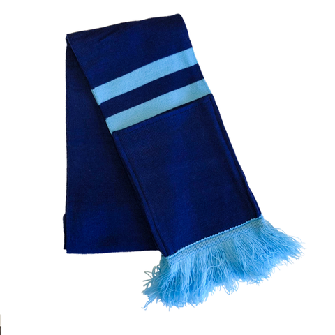 Supporter Scarf - Blue Aqua Striped