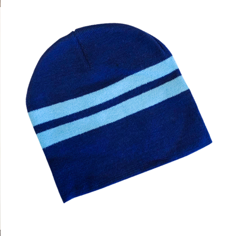 Supporter Beanies - Blue Aqua Striped