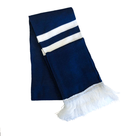 Supporter Scarf - Navy White Striped