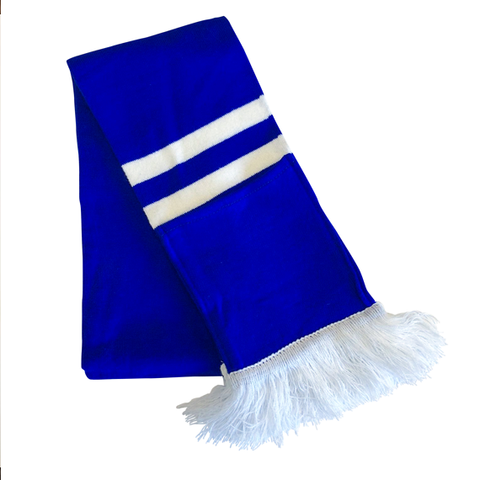Supporter Scarf - Blue White Striped