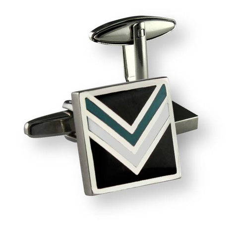 AFL Port Adelaide Power Coloured Cufflinks
