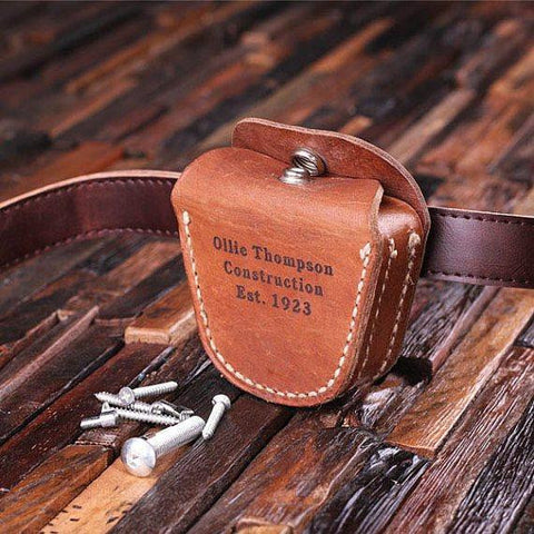 Personalised Leather Tool Belt Pouch