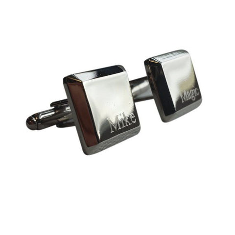 Silver Raised Square Cufflinks