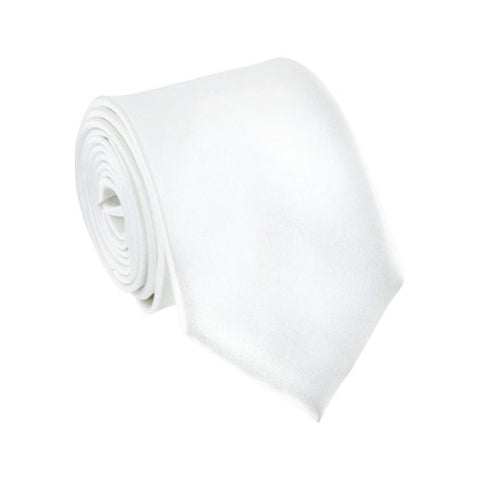 Ray of White Silk Wedding Necktie