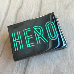 Colour Engraved Rectangle Belt Buckle - Gunmetal