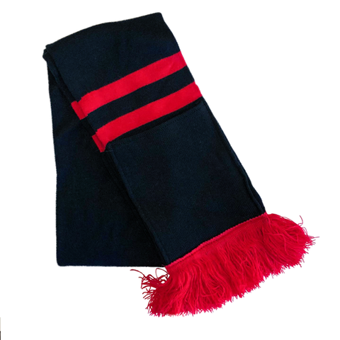 Supporter Scarf - Black Red Striped