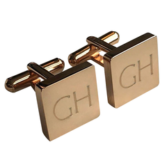 Personalised Engraved Square Rosegold Cufflinks