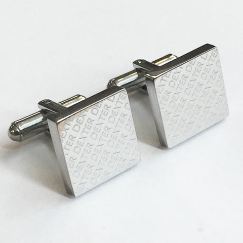 Engraved Diagonal Striped Silver Cuffs