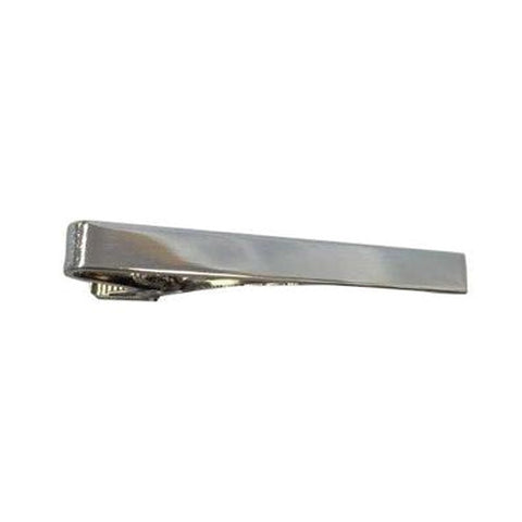 Silver Long Plain Tiebar OUT OF STOCK