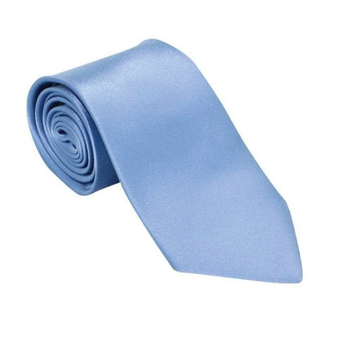 Soft Sky Blue Silk Wedding Tie