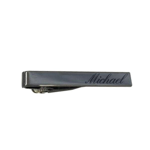 Personalised Funky Short Gunmetal Tiebar