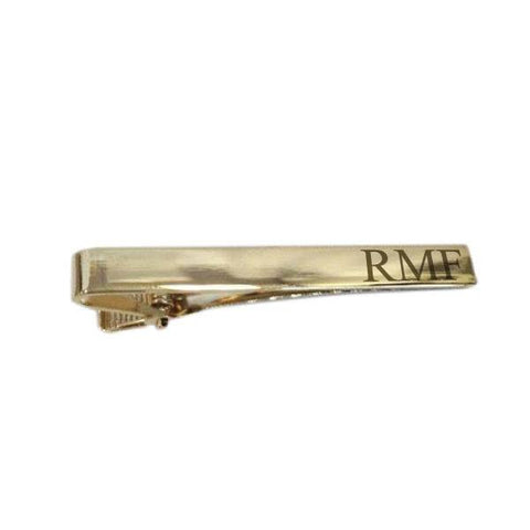 Personalised Long Gold Tiebar