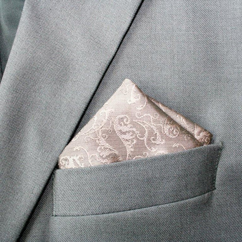 Romantic Dusty Pink Patterned Hanky
