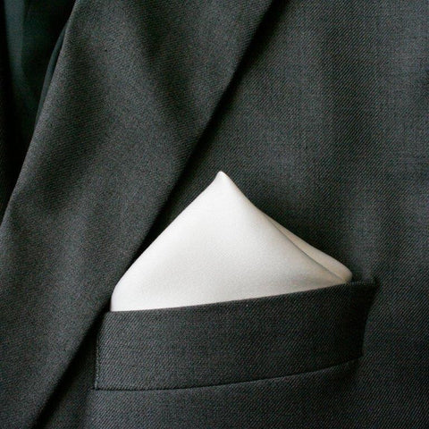 Ray of White Silk Pocket Hanky